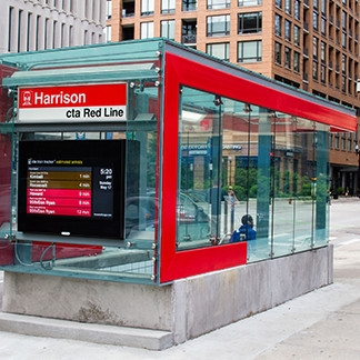 CTA Red Line Harrison Street Station Entrance